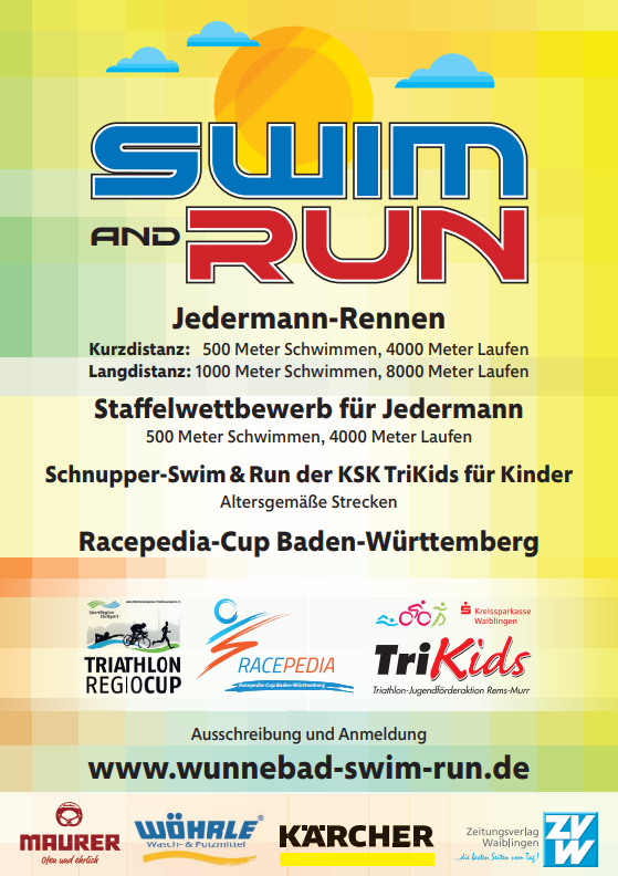 Swim & Run Flyer hinten